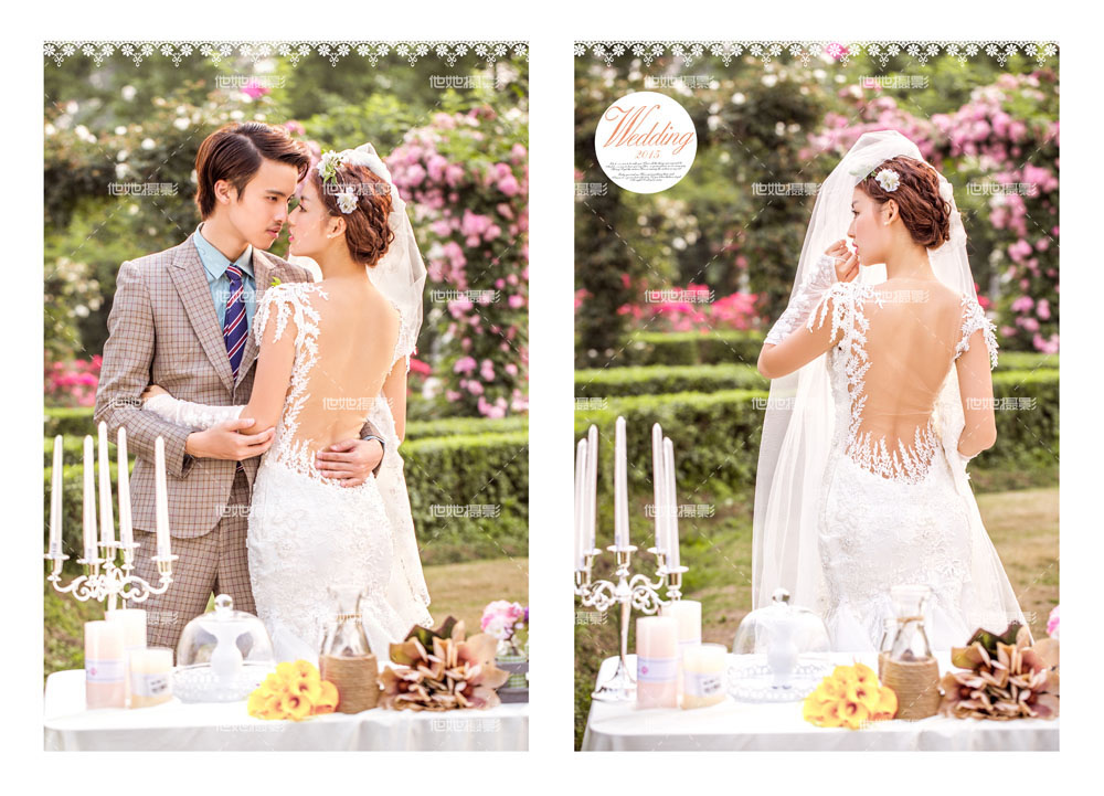 玫瑰园婚纱照