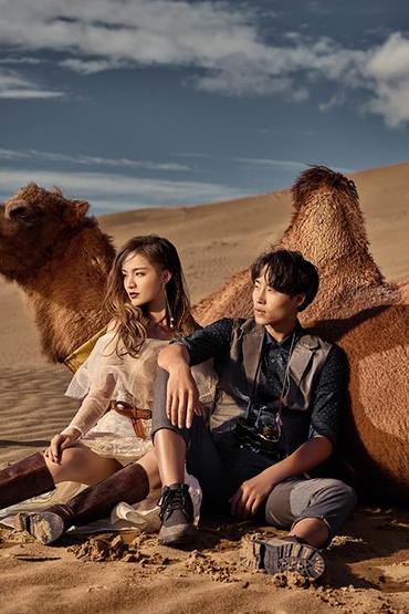 青海旅拍-沙漠