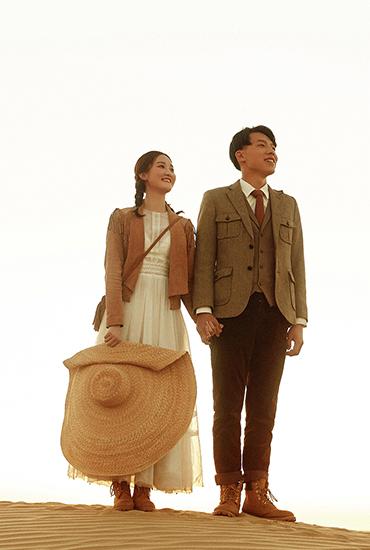青海旅拍婚纱照   沙漠骆驼