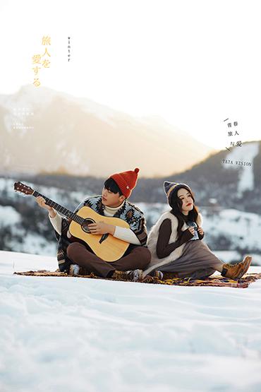 浪漫便装雪景