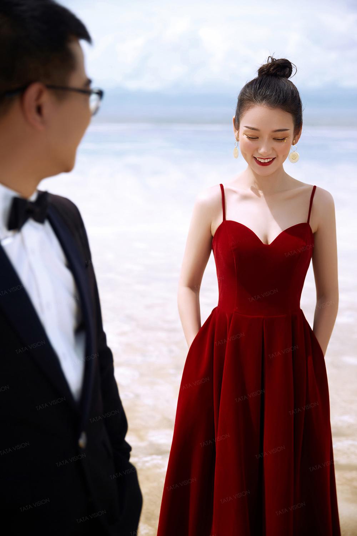 青海茶卡婚纱照纪实风